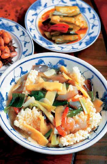 剩米饭巧变身 三鲜锅巴(图)-福建美食